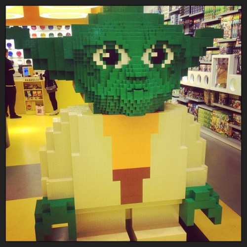 Found yoda made of #lego may the force be with you haha