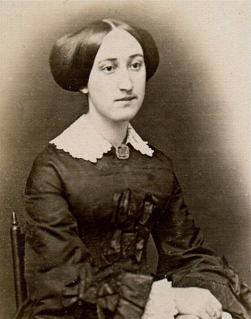 Mary Chadwick Brooks Anderson, Albumen Cabinet Card of Circa 1855 Daguerreotype, Detail by lisby1 on Flickr.