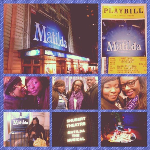 A magical evening… #MatildaTheMusical ! Those kids were ah-maz-ing. A must see! (at NY, NY)
