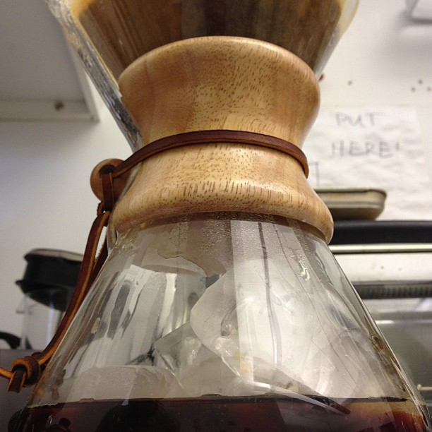 Chemex Ice Experiment #coffee #chemex (at Shapeways HQ)