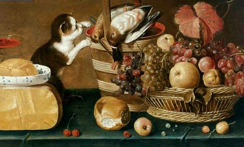 Unknown (Dutch) The Cat's Meal 1625-50