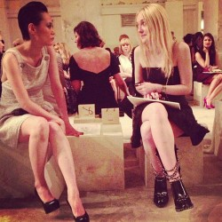 Rinko Kikuchi and Dakota Fanning front row at Chanel