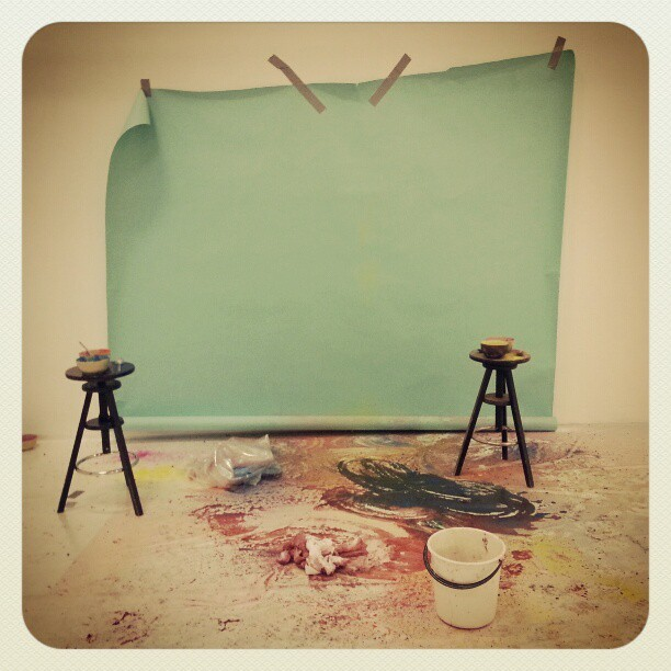 Our set at the end of the day… #YF12Mode #color #fashion #photography  (at Spring Studios)