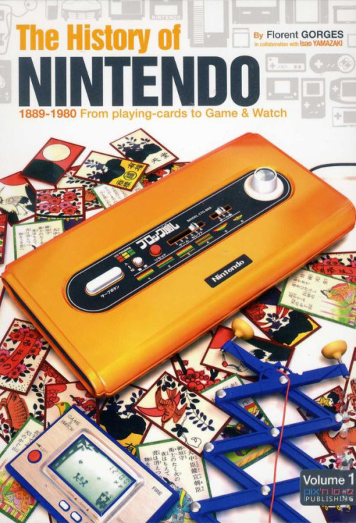 "it8bit:  The History of Nintendo (Vol. 1)  ""1889-1980: From Playing Cards to Game and Watch!""  This highly detailed publication delves into the rich and varied 120 year history of the world's leading video game company. For the very first time ever Nintendo's historical product portfolio is catalogued in painstaking and loving detail, with over 500 card games, tabletop games, toys, electronic, and arcade games all compiled into one superbly crafted book. This book details Nintendo's humble beginnings as a playing card manufacturer, charting progress through the entire range of toys and games, progressing up to the first video arcade games, home consoles, and Game & Watch series.  Available for $40(USD) @MyComicShop"