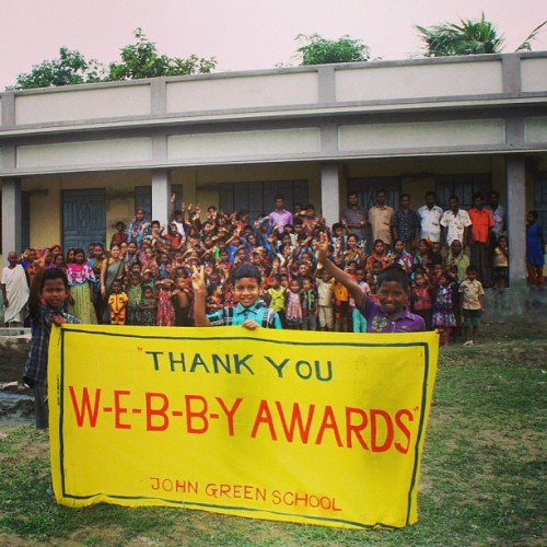 Students of The John Green School in Rural Bangladesh have a message for The Webby Awards