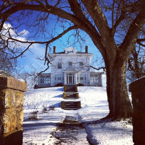 southeasterncharm; heirantiques:  Looking chilly up on a hill in Westerly.