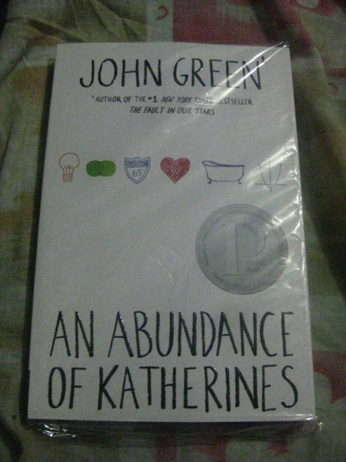 John Green's An Abundance of Katherines. late birthday gift from my best friends :)