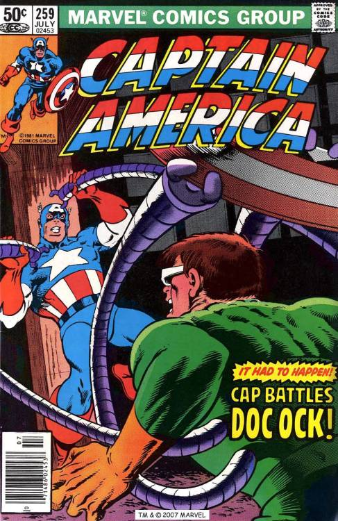 Captain America #259, July 1981, cover by Mike Zeck