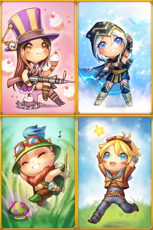 justduet:  first set of postcards :3 I'll try to get chibi Lux done in time and in the group but we'll see 8|