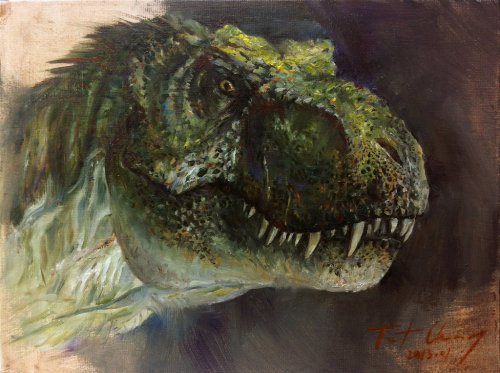 Study of JP2 Male T-rex Head by ~cheungchungtat