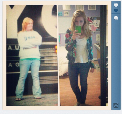 3 years ago today and today. I'm not stick thin now, but I'm damn proud that I've been this size for at least the past year.