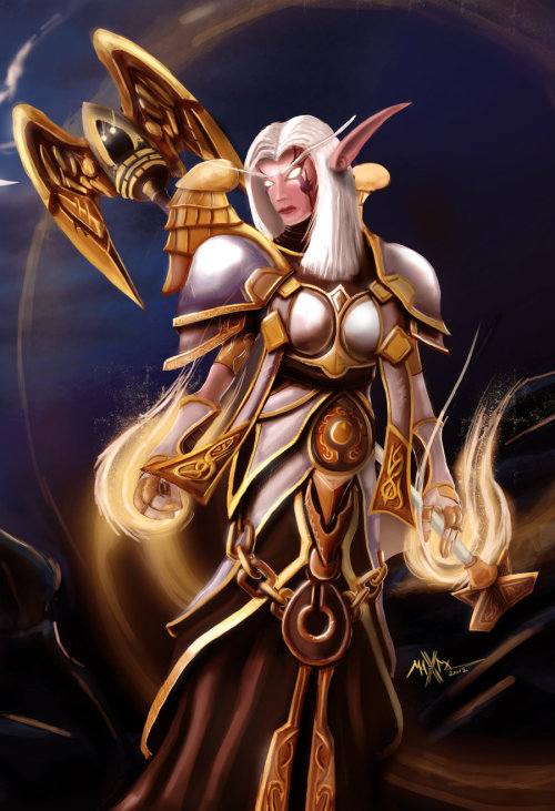 deathwingstolemyepicz:  Priest , Avatar armor ( world of warcraft ) by *maxfxgr
