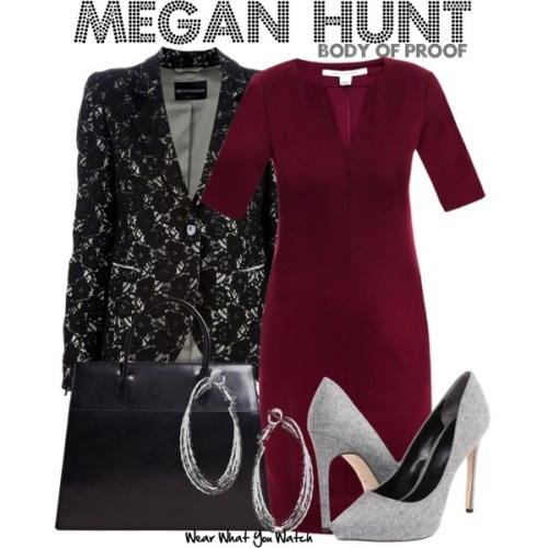 "wearwhatyouwatch:  Inspired by Dana Delany as Megan Hunt on ""Body of Proof"" - Shopping info!"