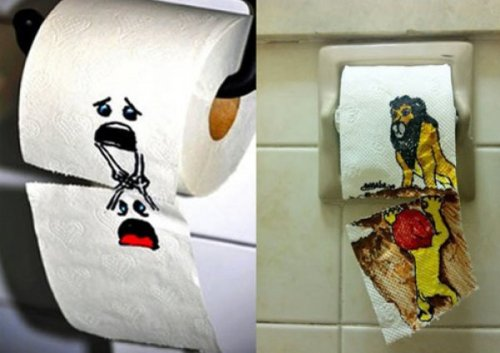 Toilet Paper Illustrations Going to the bathroom has never been so traumatic.