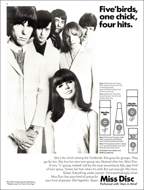theswinginsixties:  The Yardbirds for Miss Disc, 1960s.