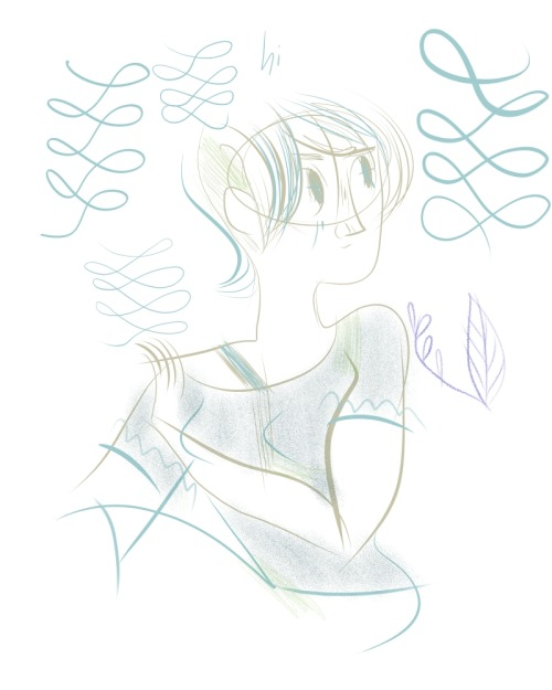 Doodle in Manga Studio 5. Never having used this program before, it's a little odd to get used to but certainly useful for inking…