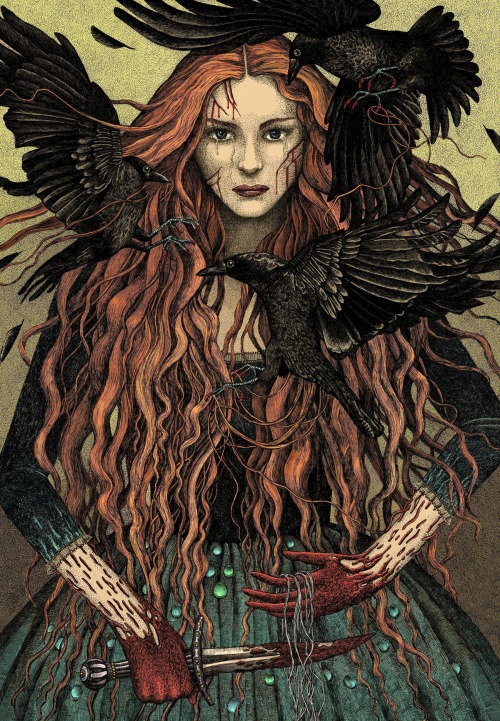 the-wool-to-hide-the-wolves:  Catelyn Stark by bubug