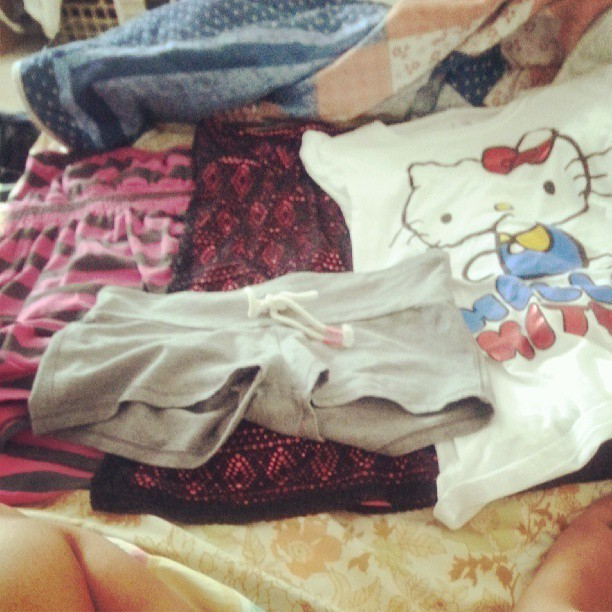 Went shopping for summer clothes :) #zumiez #hellokitty  #yogashorts #americaneagle #hottopic