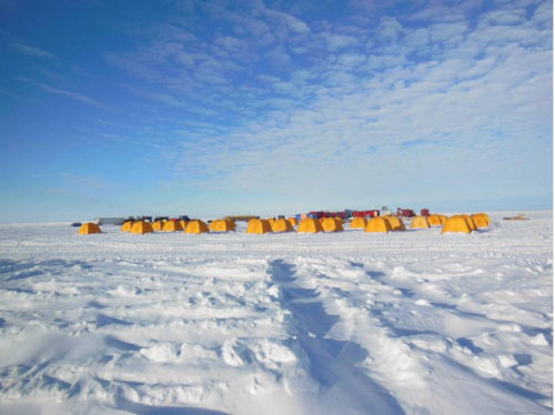 Life Confirmed in Buried Antarctic Lake     Blobs and smears of microbial life growing in clear plastic disks are confirmation of a community living in a lake buried beneath the Antarctic ice, scientists studying the lake have said.      Water retrieved from subglacial Lake Whillans contains about 1,000 bacteria per milliliter (about a fifth of a teaspoon) of lake water, biologist John Priscu of Montana State University told Nature News. Petri dishes swiped with samples of the lake water are already growing colonies of microbes at a good rate, Nature News reported.      Lake Whillans is 2,625 feet (800 meters) below the West Antarctic Ice Sheet. After breaking through the ice on Jan. 28, researchers are returning to the United States with 8 gallons (30 liters) of lake water and eight sediment cores from the lake bottom. These samples will be tested for signs of microbial life, which could shed light on the types of extreme life that is able to thrive in such harsh environments.   Now, I don't want to get people too excited but just imagine what the results could imply for a future mission to the Galilean satellite, Europa.