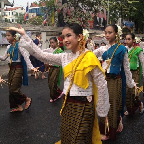 instagram:  Southeast Asia Celebrates the New Year  Explore more photos from celebrations throughout Southeast Asia by browsing these hashtags: #Songkran (Thailand & Cambodia), #Songkan (Laos), and #Thingyan (Burma).  Countries throughout Southeast Asia are celebrating the New Year this weekend! Known as Songkran (สงกรานต์ & សង្រ្កាន្) in Thailand & Cambodia, Songkan (ສົງການ) in Laos, and Thingyan (သင်္ကြန်) in Burma, the several-day celebration was once determined by the lunar calendar, but now regularly begins on April 12 or 13.  The event's festivities are rooted in Buddhism and vary from country to country. The most common ritual involves large crowds of people dousing one another with water. Other customs include lighting candles and incense at Buddhist shrines, making charitable contributions to the poor and cleansing icons of the Buddha.  If you're planning to participate in the water throwing festivities, you may want to make sure your phone is waterproof!  Thailand songkran festival #songkran #thailand