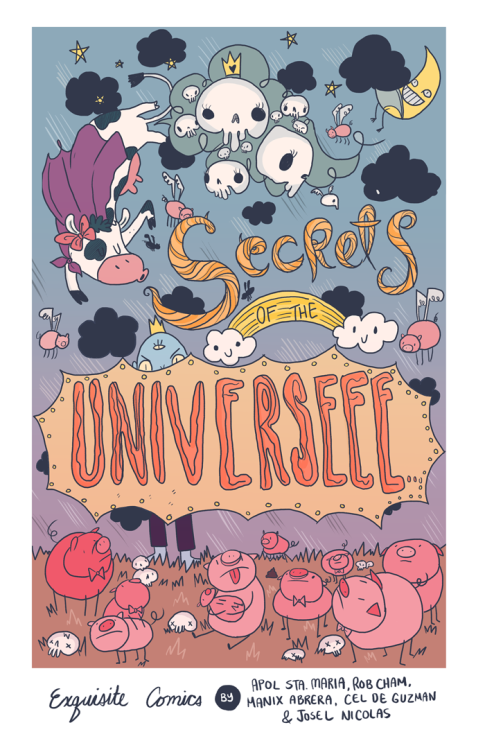 Process of one of the covers for Secrets of the Universe! The pencils for this was done by Cel with digital colors and inks by me.