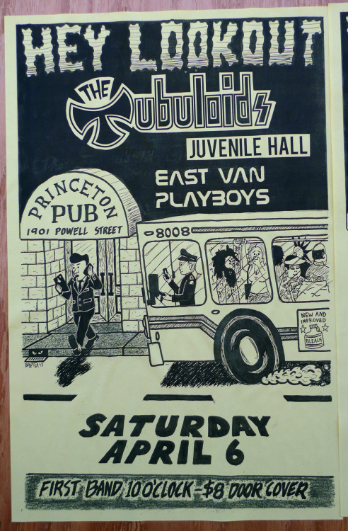 Gig poster for the Tubuloids, Sunday, April 6 at the Princeton Pub.