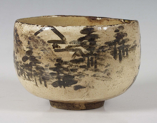 tea-for-tea:  Tea bowl by Ogata Kenzan (1663-1743)Edo Period, early 18th century Japan  I will never get tired of looking at old tea bowls.