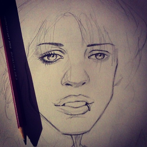 Creating Brody Dalle. From time to time, I need my own sketch break from work, and freelance, since I don't have the time to paint yet, sketch will do for now #illustrator #illustration #therapy #sketchtherapy #graphite #pencilsketch #sketch #sketches #sketching #sketchpad