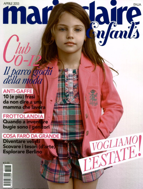 ralphlauren:   Ralph Lauren Childrenswear  Polished in pink from RL Girls, as featured on the cover of Marie Claire Enfants Italy