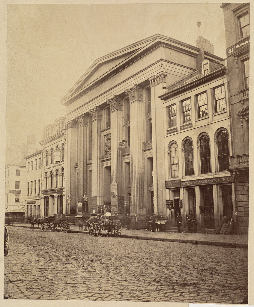 The Old Merchants' Exchange in the 1870's, Boston