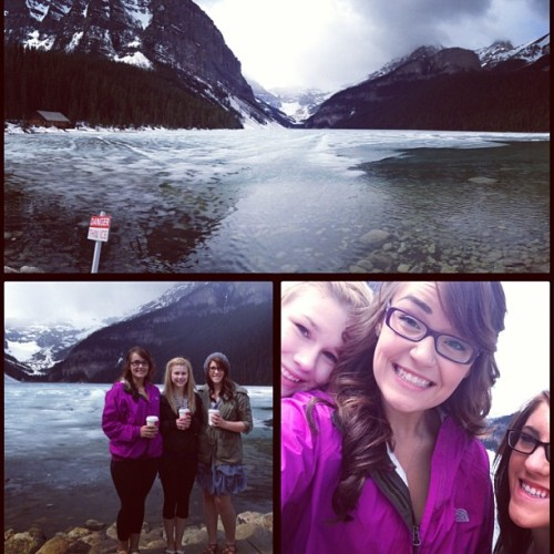 #lakelouise is complete. ❄👌#bestfriends #adventures #maylong #beautiful #nature #liltourists @ash_lea34 @katelynnsaufert