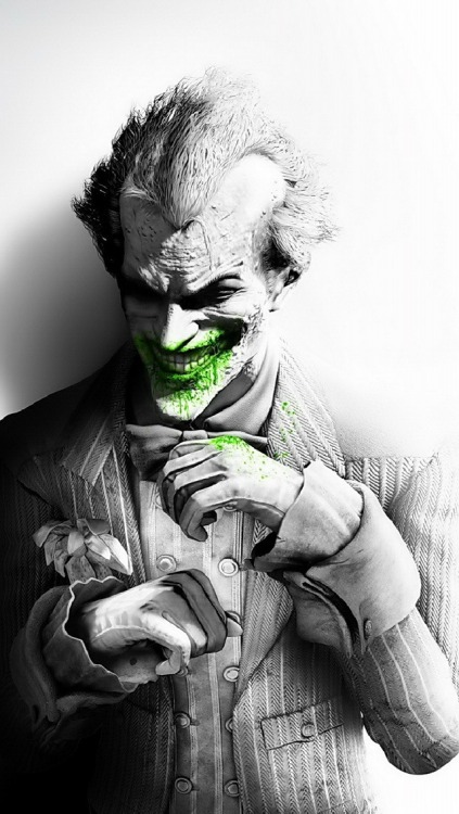 The Joker with green blood iPhone5 Wallpaper