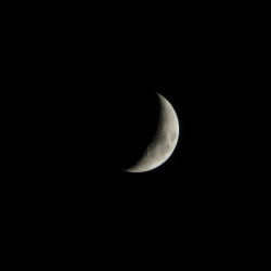 A picture of the moon that I took about 15 minutes ago out of my bedroom window. I used a Canon PowerShot SX260 HS at full zoom, balanced against the window frame.
