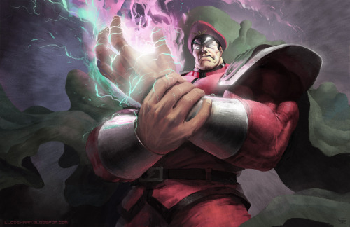 Street Fighter: M.Bison // artwork by Luc De Haan (2012)