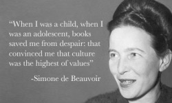 aaknopf:  bookriot:  Happy birthday, Simone de Beauvoir!  All Simone, All Day.