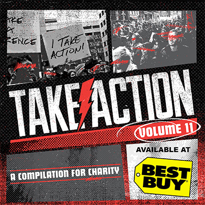 The Take Action Tour Volume 11 Compilation is OUT NOW! It includes exclusive songs from The Used, Bad Religion,AWOLNATION, The Wonder Years, All Time Low & many more. Head to Best Buy to grab your copy! Proceeds help benefit the It Gets Better Project