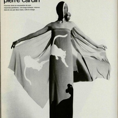 Amazing Pierre Cardin cat dress, 1973. I want this.