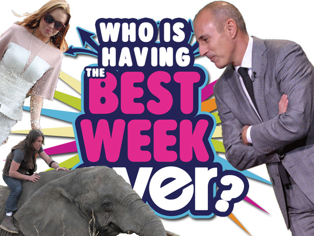 Who's having the Best Week Ever — Lilo, Matt Lauer, or Urban Tarzan? VOTE!
