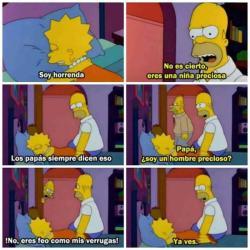 lisa bart Los Simpsons linda homero soy los simpson amarillo horrenda refleccion