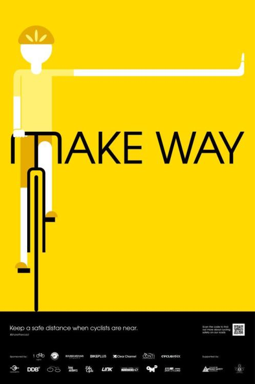 Take Away 'Share the Road' campaign. Email at info@life-cycle.co for the hi-res posters.