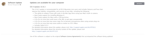 Apple Releases OS X 10.8.3 Update