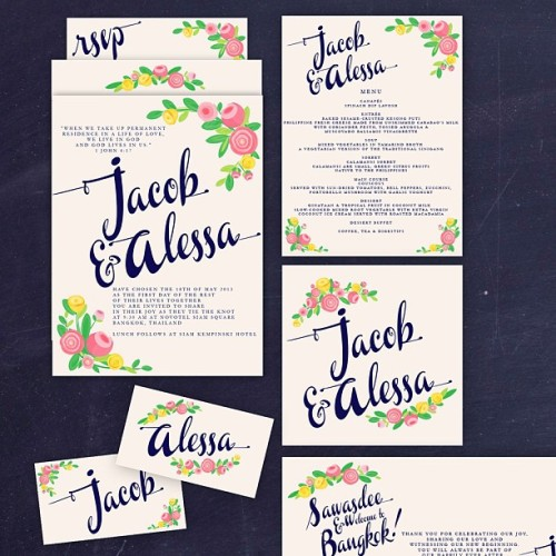A belated congratulations to Jacob & Alessa who got married in Thailand last weekend 😊🎉 #wedding #weddings #design #flowers #floral