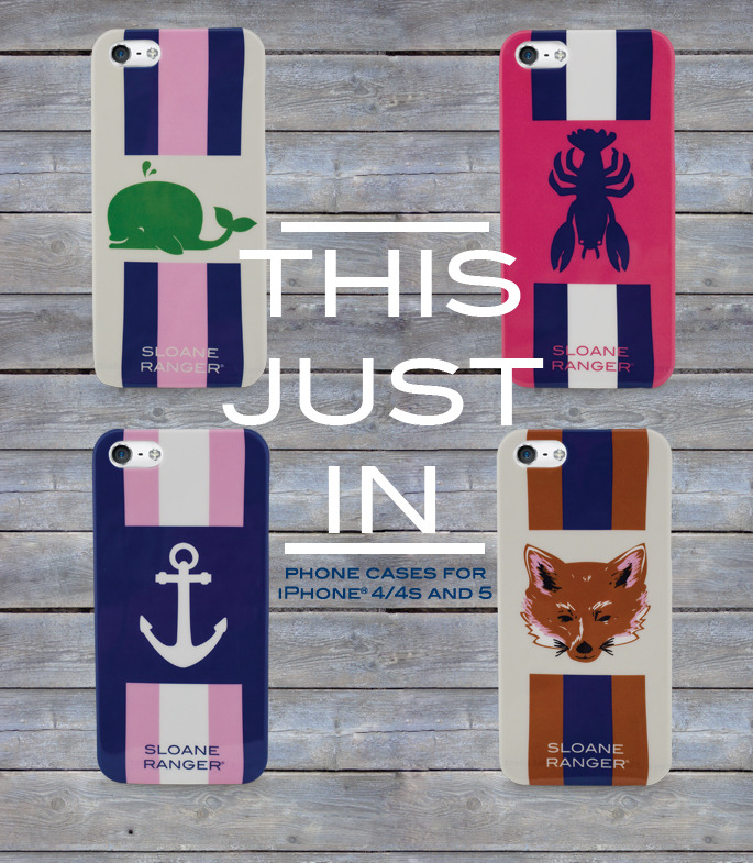 A fresh shipment of phone cases just came in!  This time we have added a batch of cases for iPhone 4/4S too! You can shop our full Phone case collection here:  Sloane Ranger Phone Cases.