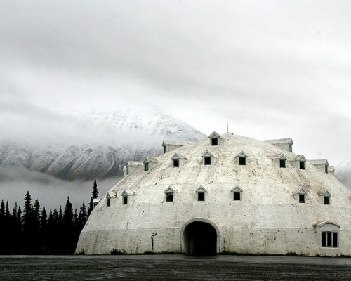 An abandoned igloo resort hotel in Alaska. photo: Sara Heinrichs