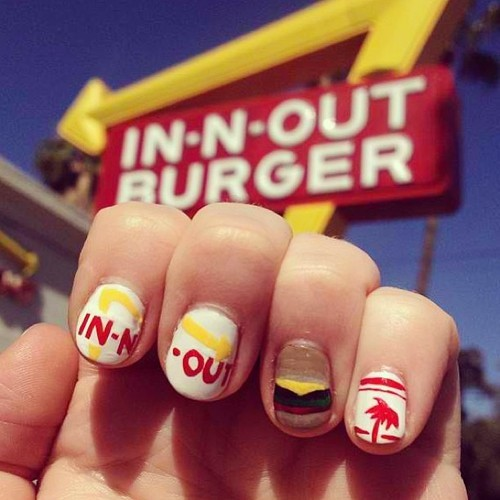 In-N-Out nailsies for my muse Fiona Byrne.
