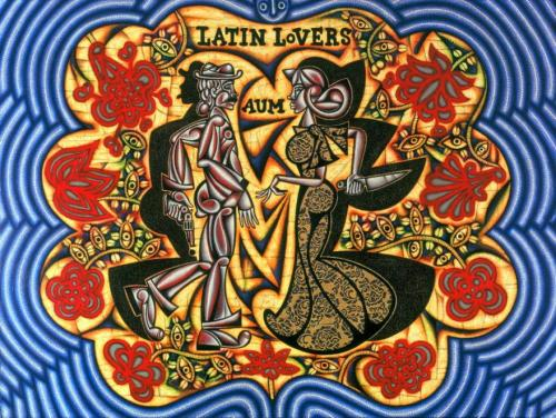CARLOS LUNA Latin Lovers , 2008 54 x 72 in Oil on Canvas