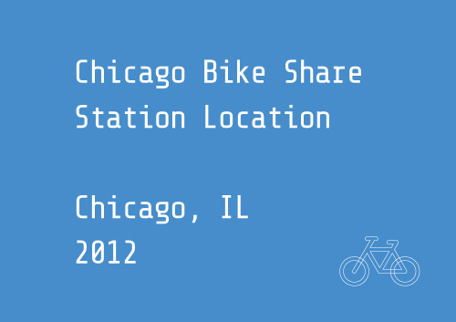 Chicago Bike Share Suggestion MapChicago Department of Transportation Bike share will be a new way to get around Chicago. It is an affordable, self-service personal transit system that allows bikes to be picked up from one location and ridden to any other location in the system. Commuters, residents, and tourists don't need to own a bike to make bicycling a part of their trip! http://share.chicagobikes.org/
