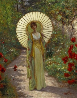 louisepandora:   John William Henessy, Le parasol japonais