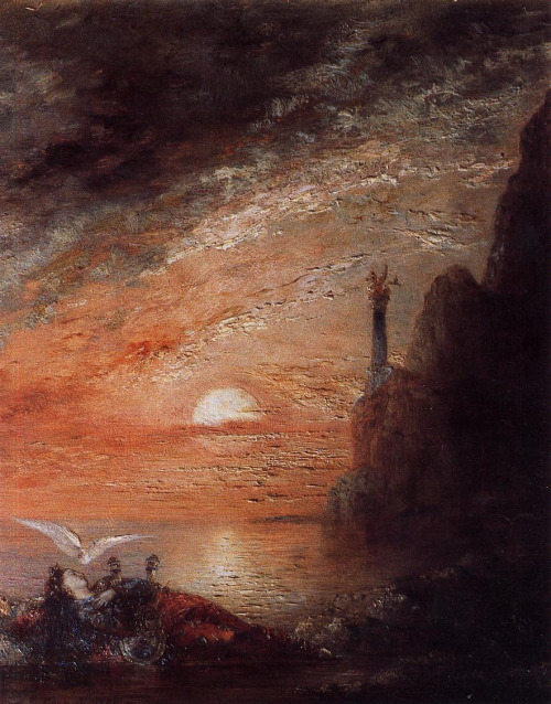 art-is-art-is-art:  The Death of Sappho, Gustave Moreau