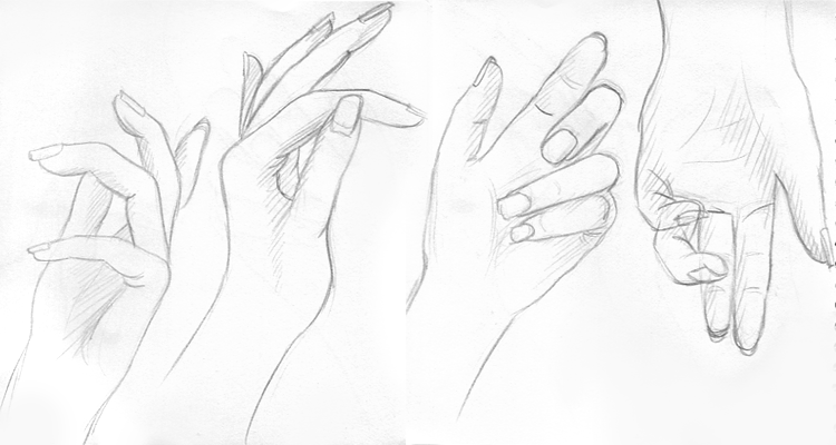 alexiel2001: April Drawing Challenge Day 5 : Hands, hands, hands